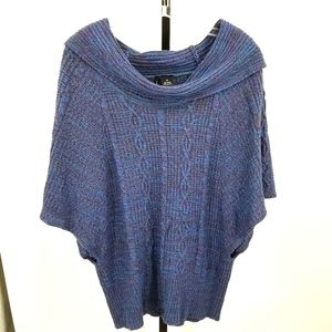 New Directions Cowl Neck Cable Knit Sweater